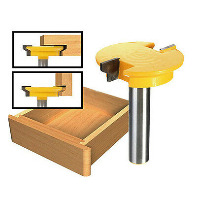 1/2'' Shank Straight Rail & Stile Router Bit Woodworking Chisel Cutter Tool