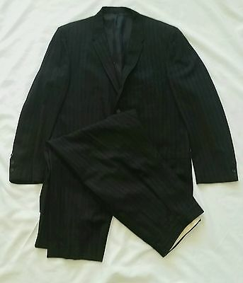 VINTAGE 50s RATHER ORIGINAL ROCKABILLY BLACK & BLUE FLECK HOLLYWOOD SUIT