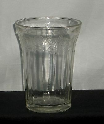 "Jeannette CHERRY BLOSSOM CRYSTAL *4 1/4"" WATER TUMBLER*PAT*"
