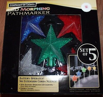 """Led Morphing Pathway Christmas Driveway Lights Stars Symphony Of Lights 15"""""""