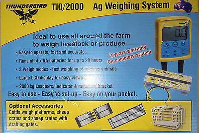 Agricultural Scales Cattle Sheep Scales Thunderbird T10 + 2000kg Weigh Bars
