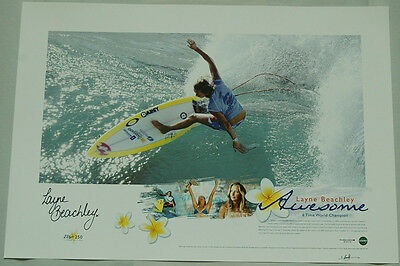 Layne Beachley Hand Signed Awesome Limited Edition Print Slater Fanning