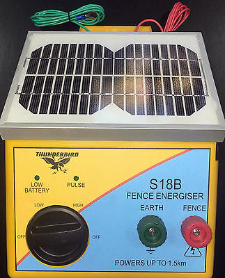 Thunderbird S18B Solar Electric Fence Energiser 1.5km (replaced  S16b )