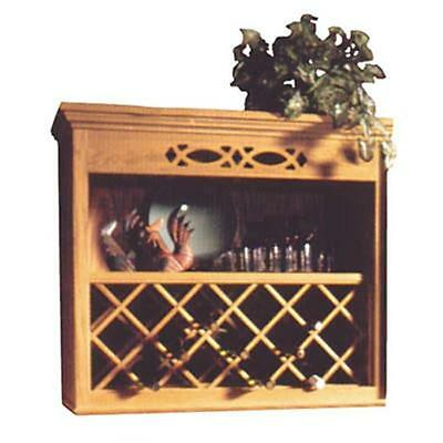 Omega Npwrl 2443 Ch 24 In. X 43 In. Wood Wine Rack Lattice Cherry