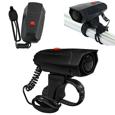 Bicycle Cycling Electronic Horn Bike Handlebar Ring Bell Horn Loud Air Alarm New