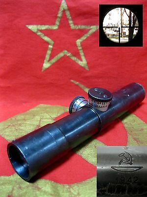 WWII 1942 MILITARY SNIPER SCOPE MOSIN vintage Soviet Russian USSR