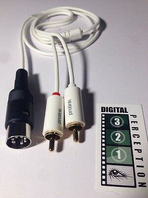 Bang & Olufsen compatible AUX Lead, 7 Pin Din Plug to 2 x RCA Plugs FREE WW Post