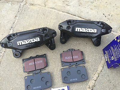MAZDA RX7 FRONT 4 Pot Sumitimo Calipers And Brand New Heavy Duty Pads..