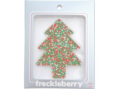 Limited Edition Chocolate Freckle Xmas Christmas Tree  - Red White Green Colours