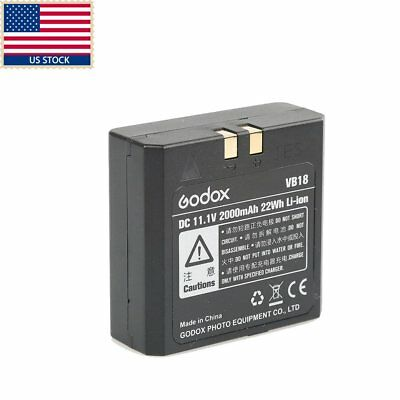 US New Improved Godox VB18 Li-ion Battery for V850 V860C V860N Speedlite Flash