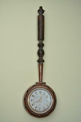 "French ""JAZ"" 8 Day Clock within A Copper Bed Warmer / Chestnut Roaster"