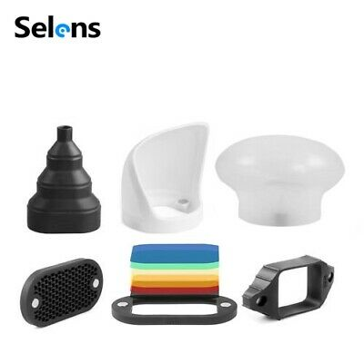Selens Magnetic 6 in 1 Universal Honeycomb Grid Diffuser Flash Modifier Set