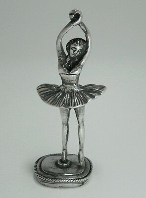 Rare Solid Silver Dancing Girl Figure - Hallmarked - 6.4 Cm Large