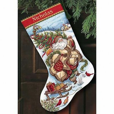 Dimensions - Counted Gold Cross Stitch Kit - Stocking - Santa's Journey - D08752