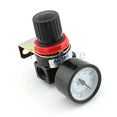 AR2000 Air Control Compressor Pressure Relief Regulator Pneumatic Valve Gauge