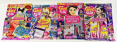 Girl Talk Magazine X4 Gift Issues - AMAZING FREE GIFTS! (BRAND NEW COPIES)