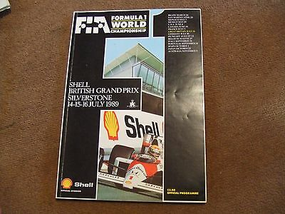 1989 Shell British GP Grand Prix Silverstone F1 Official Programme & Race Card