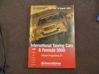 1996 Silverstone F3000 ITC International Touring Cars Official Race Programme