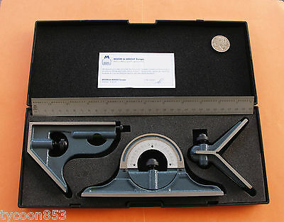 Combination Square Protractor Centre Finder Cast Iron  Moore & Wright Sheffield