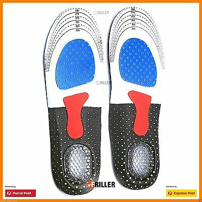 Sport Running Shoe Insoles Insert Shoes Pads Gel Unisex Orthotic Arch Support