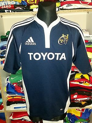 MUNSTER RUGBY SHIRT SIZE L TOYOTA UNION ADIDAS JERSEY  (e919)