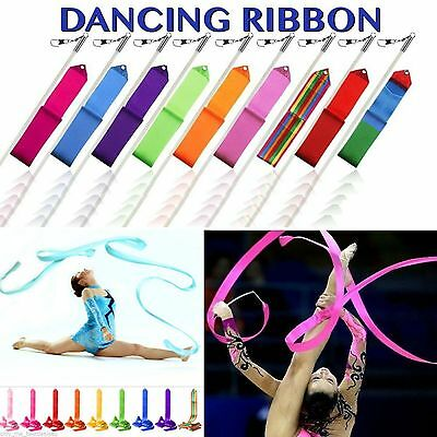 Gym Gymnastics Dancing Ribbons 10 Colors Baton Twirling Rods SINGLE COLOR CHOICE
