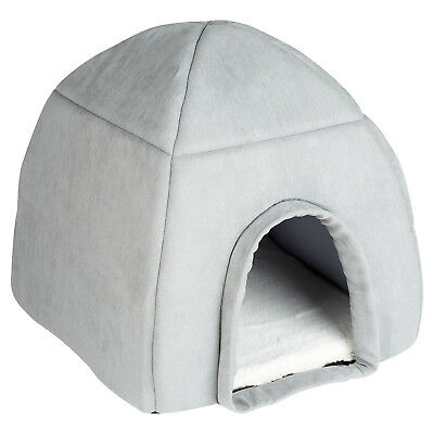 Me & My Super Soft Large Grey Cat/dog Igloo Pet Bed Warm House/dome Puppy/kitten