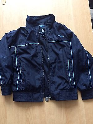 Blue Donnay Childrens Lightweight Tracksuit Jacket with Pockets 2-3 years