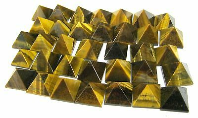 50 Tigers Eye Crystal Feng Shui Pyramids Healing Gift Bagua Reiki Home Office