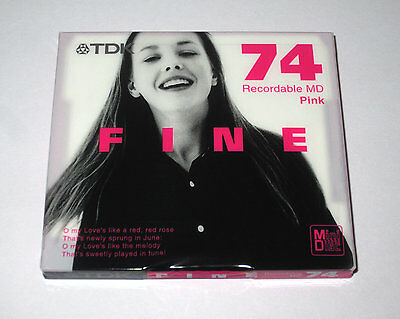 "One (1) Minidisc TDK FINE ""Girl Blue"" MD-74 '2001 (new and sealed)"
