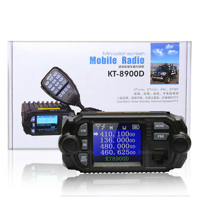 QYT KT-8900D Dual Band Quad Standby 5Tone 25W VHF UHF Car/Trunk Ham Mobile Radio