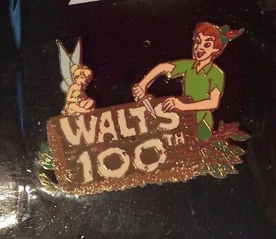 """Peter Pan & Tinker Bell, Walt's 100th Year """"Works of Art"""" Collection Disney Pin"""
