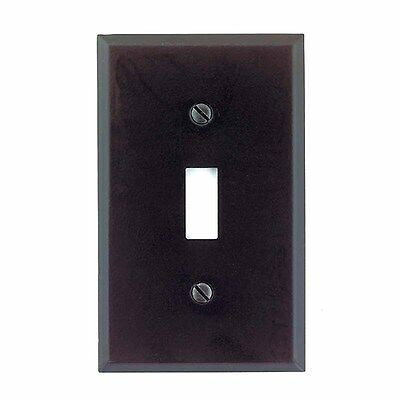 Switchplate Black Steel Single Toggle/Dimmer  | Renovators Supply