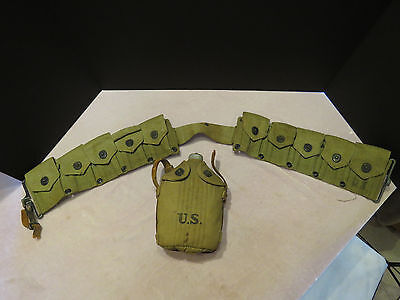 US Army WWI R.I.A. 1918 Canteen & Belt