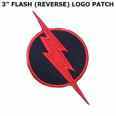 Superhero Super Hero Reverse Flash Embroidery Iron On Patch Badge Us Seller