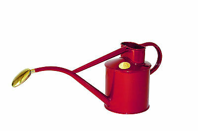 Haws      |  Metal Indoor Watering Can in Gift Box 1 Litre - Burgandy