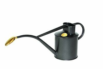 NEW HAWS | Metal Indoor Watering Can in Gift Box 1 Litre - Graphite Haws Botanex