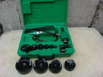 "GREENLEE 7310 HYDRAULIC KNOCKOUT PUNCH AND DIE SET 1/2 to 4""    SET #5  10/7"