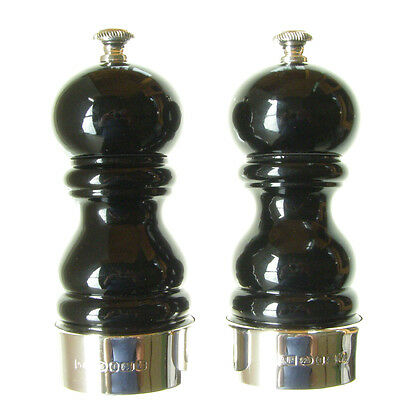 Top Quality Pair Of Hallmarked Sterling Silver Pepper & Salt Grinders. Brand New