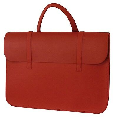 Red Leather Music Bag - Leather Sheet Muisc Case