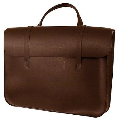 Brown Leather Music Bag - Leather Sheet Muisc Case