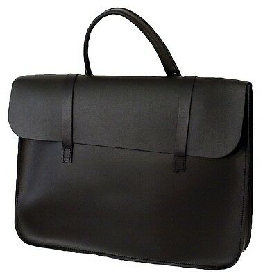 Black Leather Music Bag - Leather Sheet Muisc Case