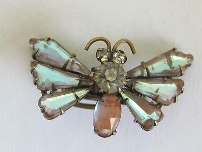 Victorian Antique Saphiret Butterfly Pin Brooch