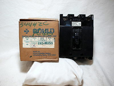 Ite Gould Eh3-M050 *new* Circuit Breaker 50A 3P Eh Frame 480Vac (1H0)