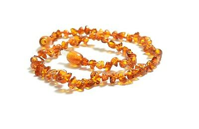 Baltic amber cognac teething necklace Sold by manufacturer. TA-1225