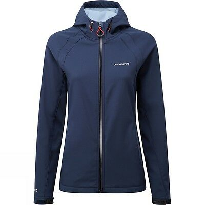 Craghoppers Womens Lena Hooded Softshell Coat Jacket in Night Blue  Half Price