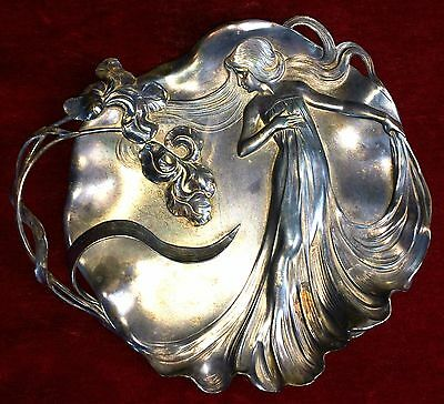 Couple Centerpieces. Silver Plated Metal. Art Nouveau. Wmf ?. Germany. 1900.