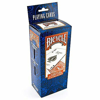 Bicycle Poker Size Standard Index Playing Cards, 12 Deck Player''s Pack