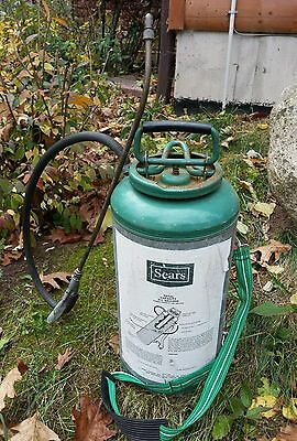 VTG Sears Garden Weed Sprayer Galvanized Steel Brass Pump Cannister 3.5 Gallon