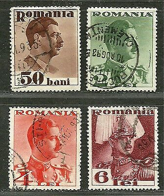 ROMANIA 1934  Fine Used Lightly Hinged Stamps Scott # 436-439